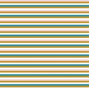 Liquorice Allsorts  stripes - mustard, lagoon,  cotton candy and white
