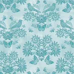 tonal damask blue