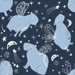 Stellar Capybara on blue