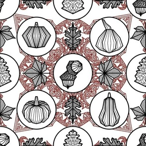 Geometric Autumn with black outline
