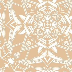 Geometric pattern on gold and white