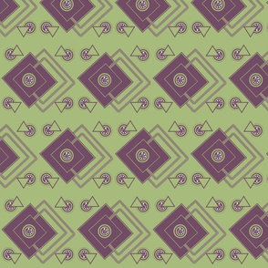 geometric_intricate_ purple,green, white