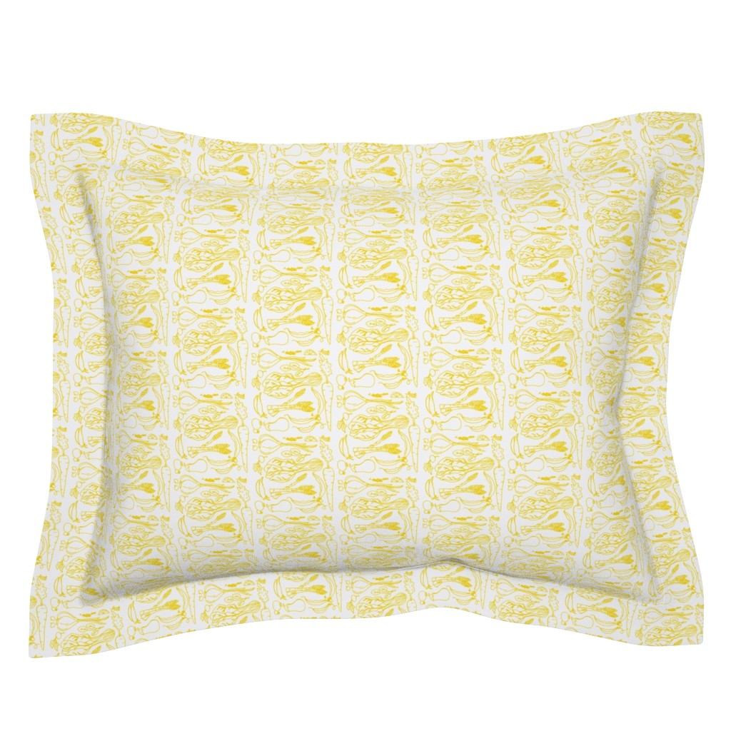 Sebright Pillow Sham featuring Garden Collage lemon by thehighfiber