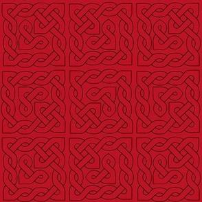 Celtic Knot Tile 2 reds