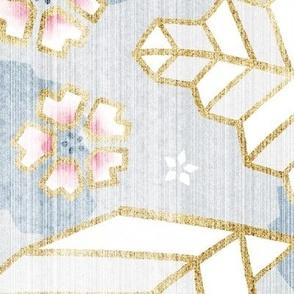 Geometric Origami Leaves Japandi Style / Jumbo