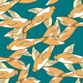 Ukiyo-e Japanese Inspired Koi Fish