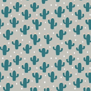 Cactus with dots in pale green