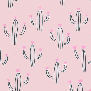 Cactus Lines in light pink