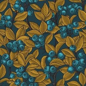 Blueberries- lagoon and mustard