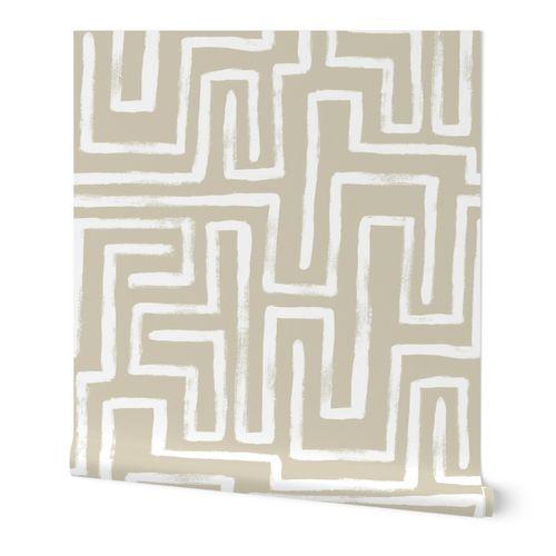 Maze - Sand - Geometric Design