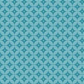 Lagoon blue atomic starburst  retro