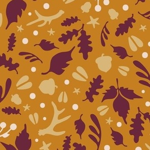Autumnal Fall Foliage Scatter Print - Deerly Beloved