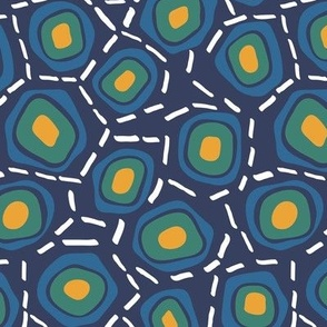 Blue Cells on Navy