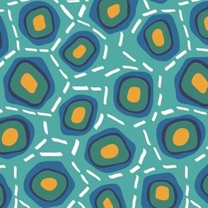 Cells on Teal