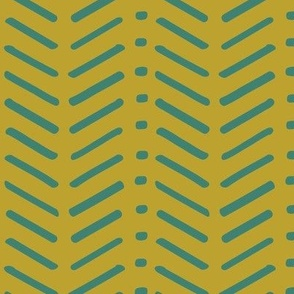 Green and Teal Chevron