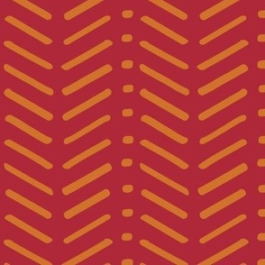Red and Orange Chevron