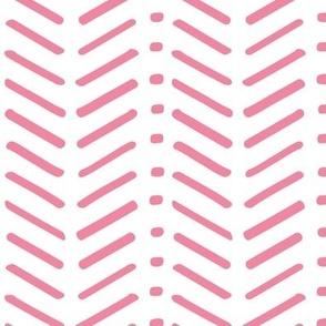 Pink and White Chevron