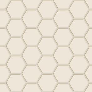 Beige Hexagons