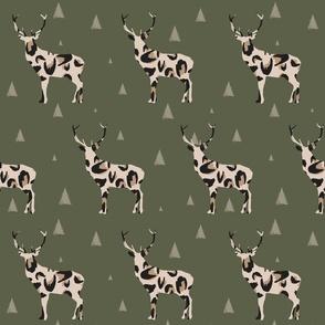 Christmas Boho Reindeer leopard print