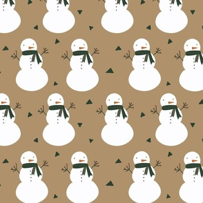 Christmas snowman boho neutral