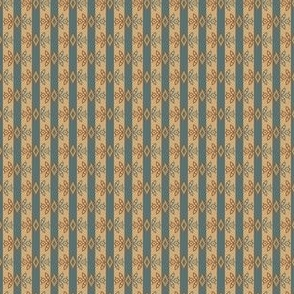diamond flower stripe teal 2067-60