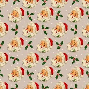 Christmas Grey Neutral vintage Santa