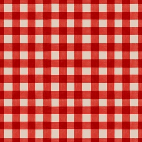 Red gingham checkered check