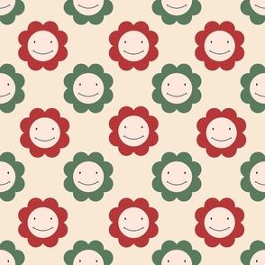 Smiley Faces Flowers Kawaii