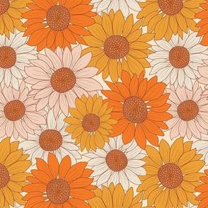retro sunflowers fall autumn