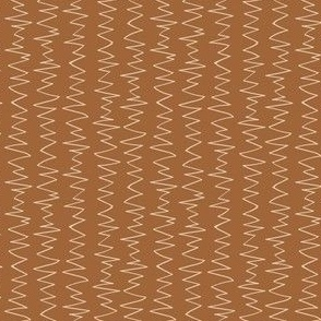 Toffee and Cream Mod Zig Zag; small scale suitable for kids apparel and home decor accessories