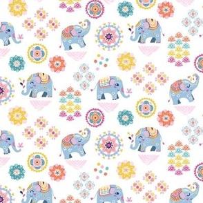 small scale | indie boho elephants