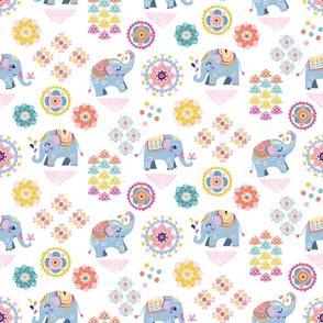 large scale | indie boho elephants