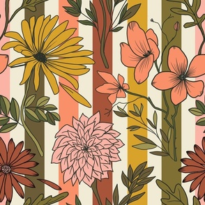Moody florals flowers fall autumn hand drawn