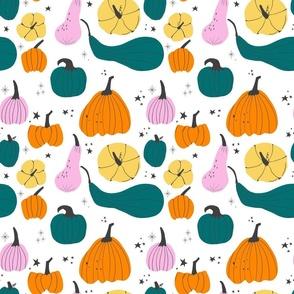 Fall colorful pumpkins-main
