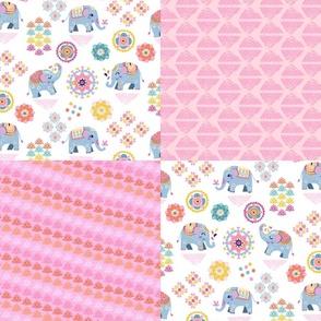 Baby Boho Elephant patchwork