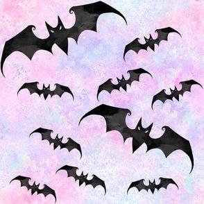 Bats pink pastel goth