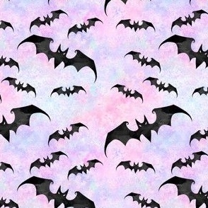 SMALL SCALE Bats pink pastel goth