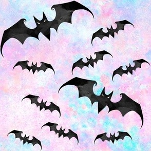Bats pastel goth with blue