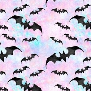 SMALL SCALE Bats pastel goth with blue