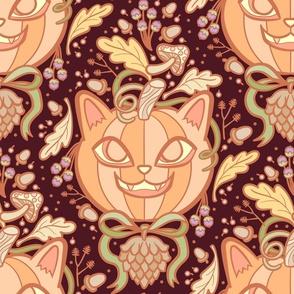 Harvest Kitty in Autumn Browns