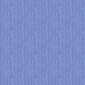 Cornflower with Sapphire Branches Stripe