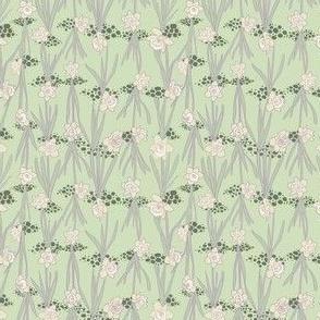 Mint Grey Ivory and Artichoke Daffodils