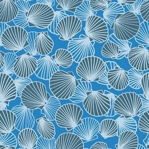 Bluebell Charcoal Baby Blue Scallop Pile