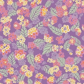 Purple Mint and Yellow Lantanas