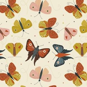 butterflies butterfly moth moths fabric