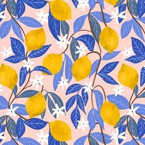 Lemons with Blue leaves