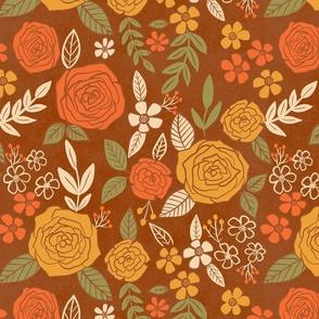 Retro Fall Autumn Florals