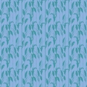 Chilly Grasses in cornflower blue and teal