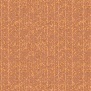 Sienna and Gold Branch Stripe