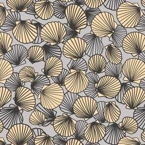 Grey and Tan Scallop Shells